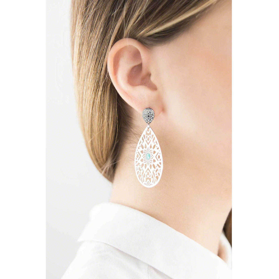 Marlù boucles d'oreille Woman Chic femme 2OR0024 indosso