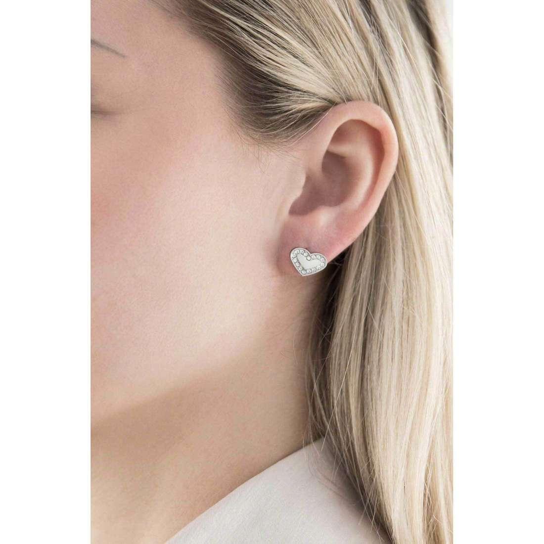 Morellato boucles d'oreille Abbraccio femme SABG07 indosso