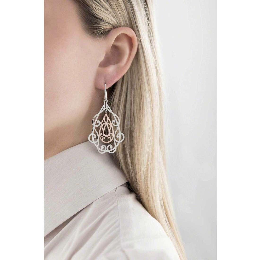 Morellato boucles d'oreille Arabesco femme SAAJ03 indosso