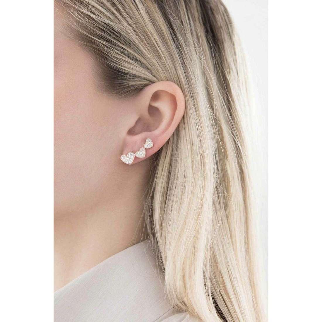 Morellato boucles d'oreille I-Love femme SAEU03 indosso