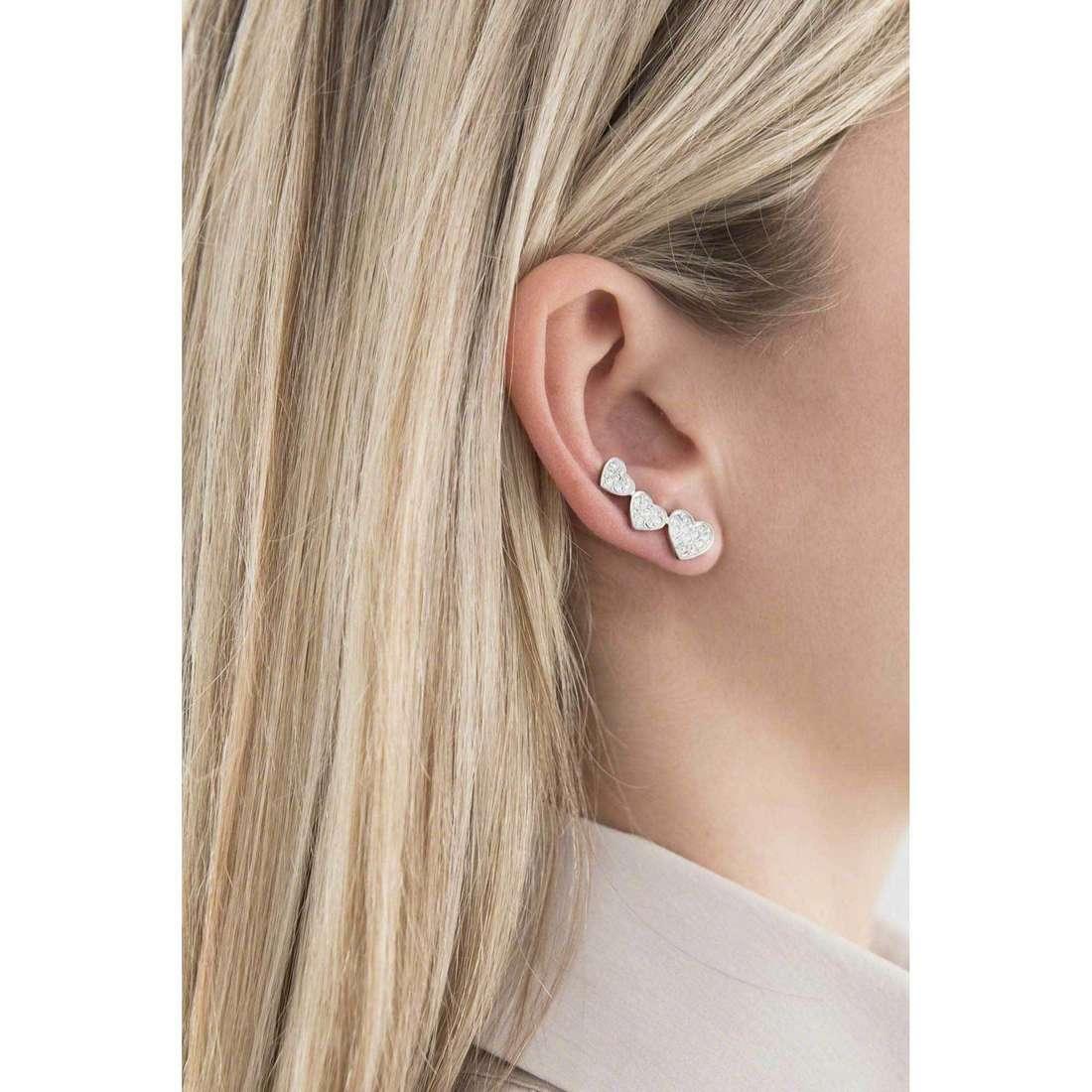 Morellato boucles d'oreille I-Love femme SAEU04 indosso