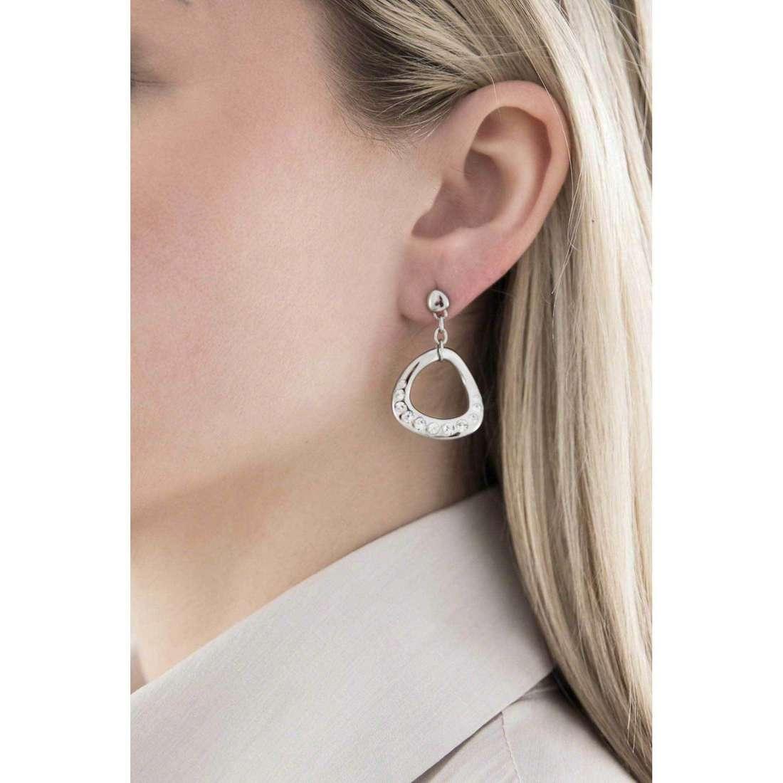 Morellato boucles d'oreille Senza fine femme SKT08 indosso
