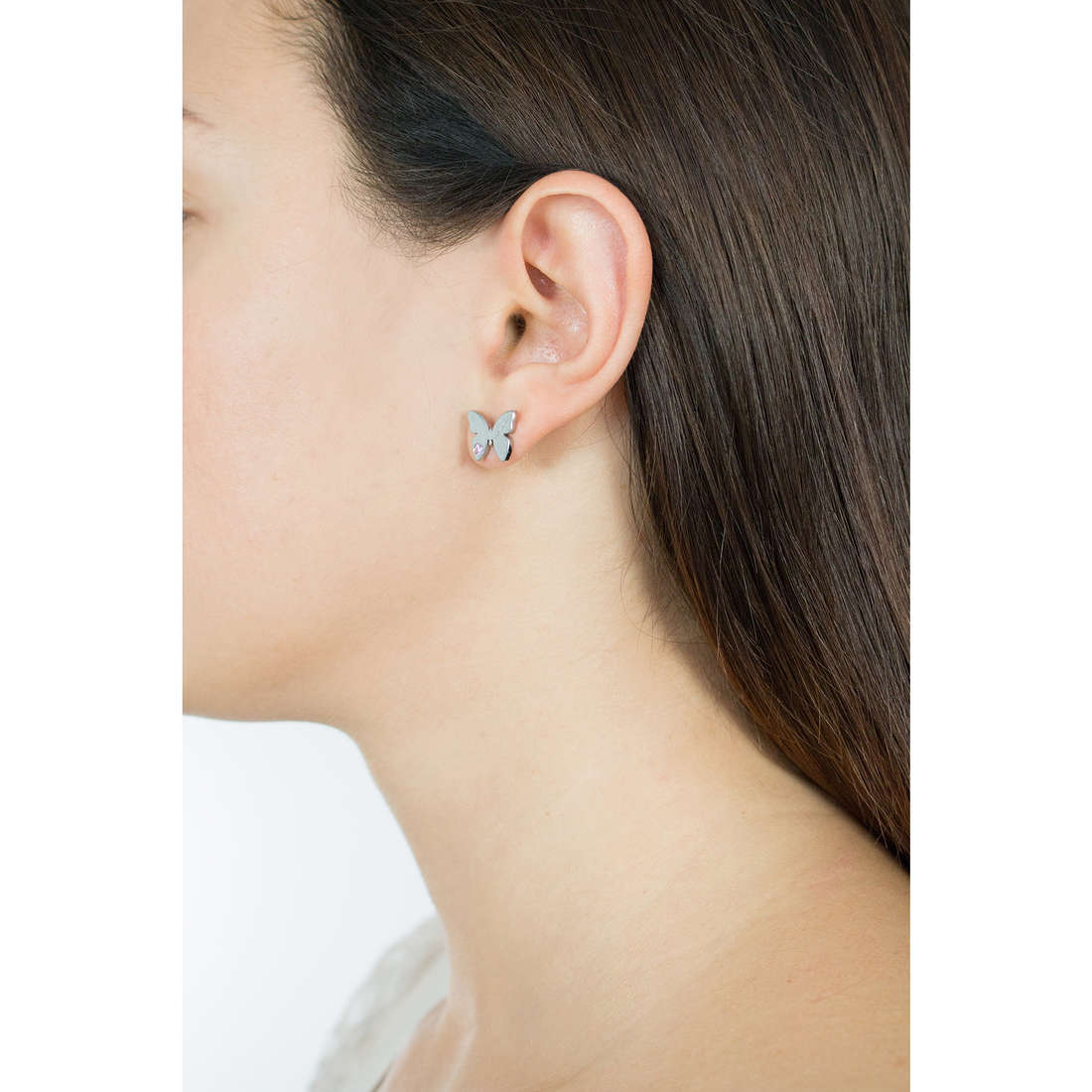 Nomination boucles d'oreille Butterfly femme 021308/002 photo wearing