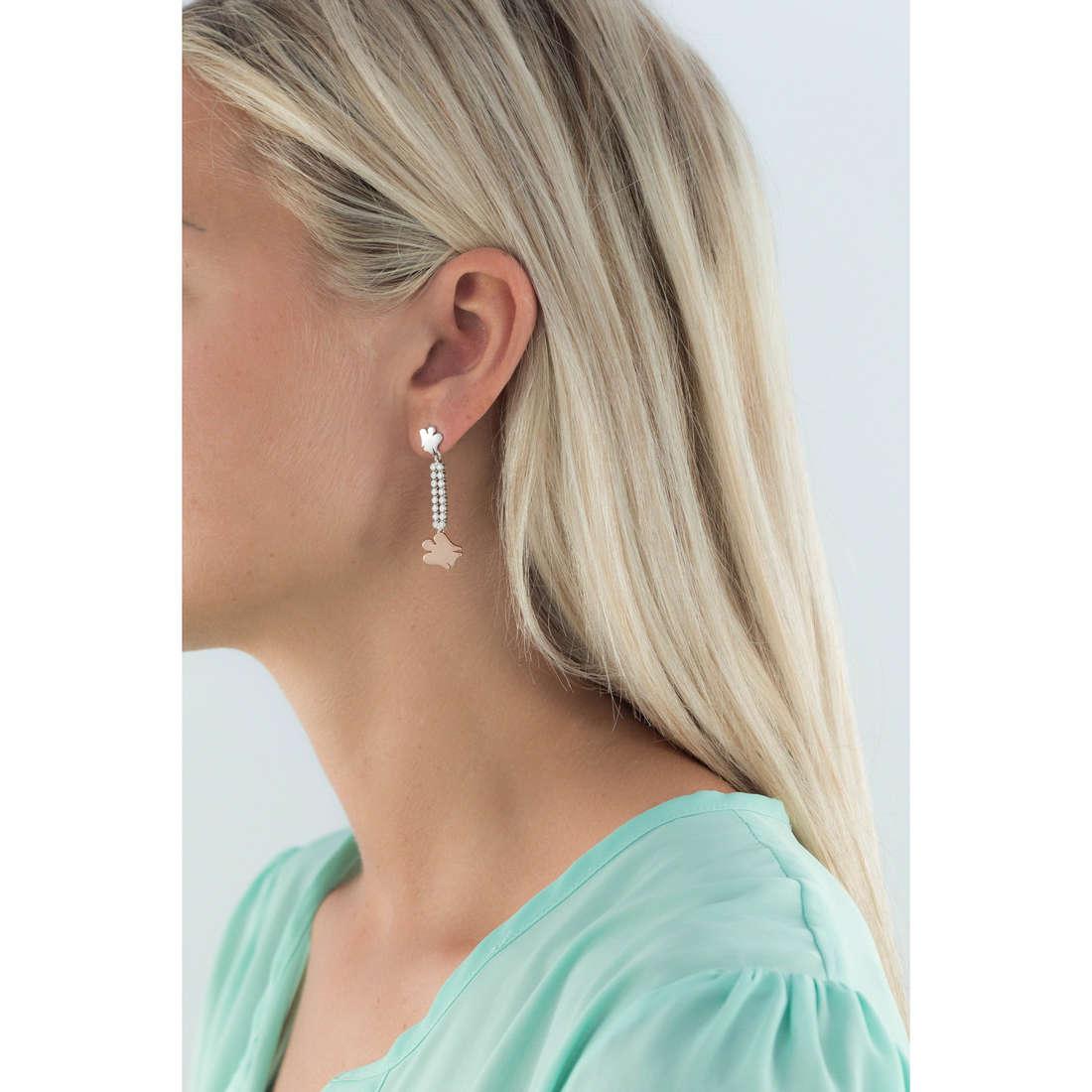 Giannotti boucles d'oreille Chiama Angeli femme GIA249 indosso
