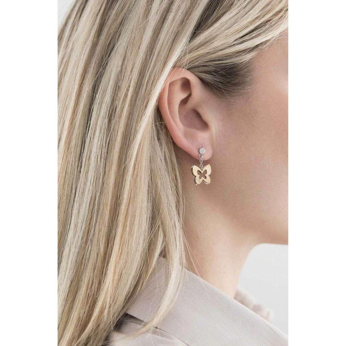 Sagapò boucles d'oreille BUTTERFLY femme SBF21 indosso