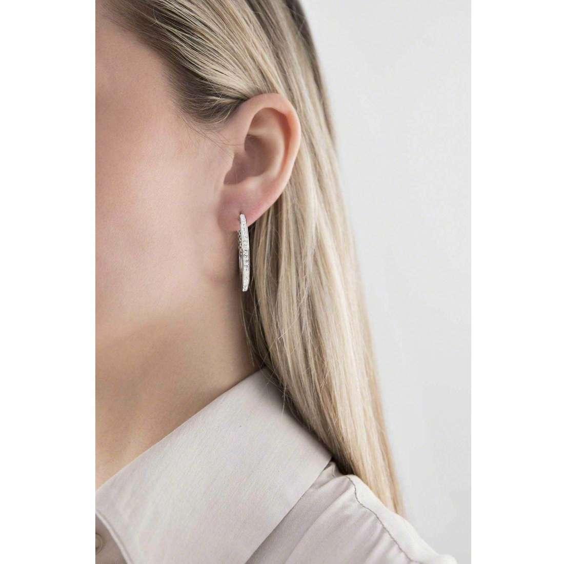 Sagapò boucles d'oreille Crystal ring femme SCR20 indosso