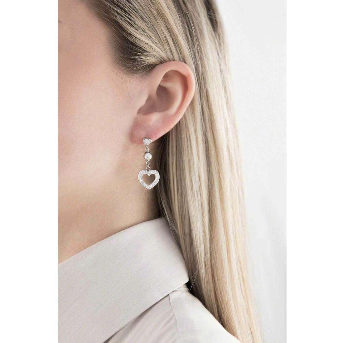 Sagapò boucles d'oreille Love day femme SLD20 indosso
