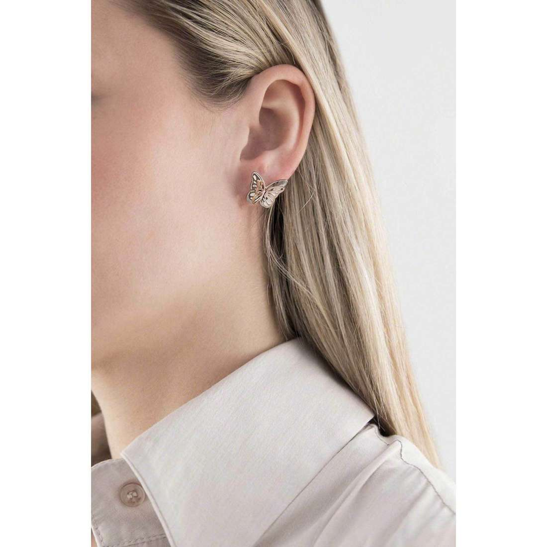 Sagapò boucles d'oreille Mariposa femme SMP23 indosso
