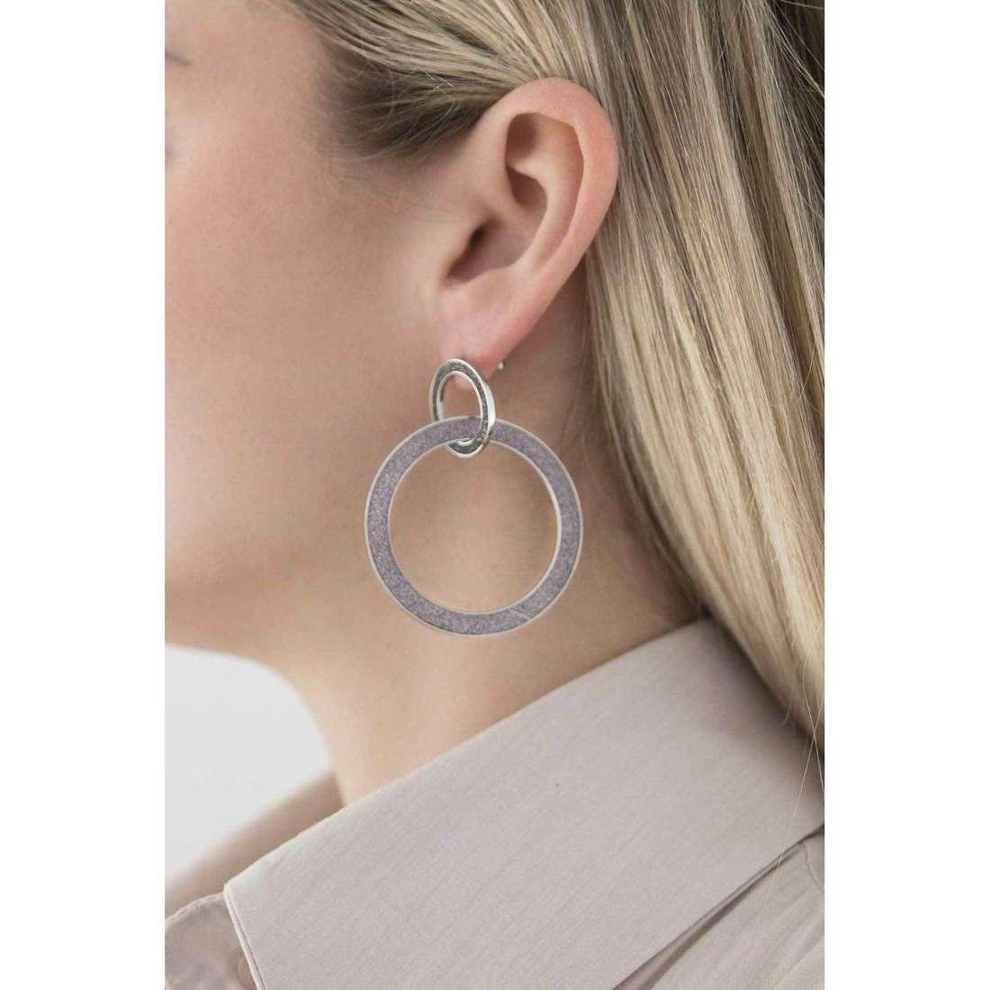Sagapò boucles d'oreille Trinidad femme STR31 indosso