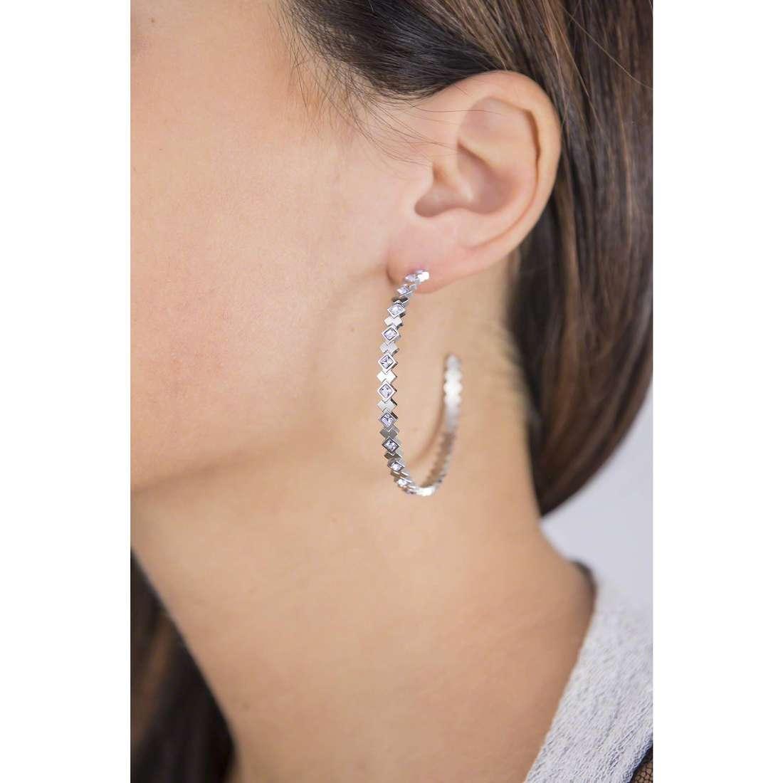 Sagapò boucles d'oreille Victoria femme SVC22 indosso