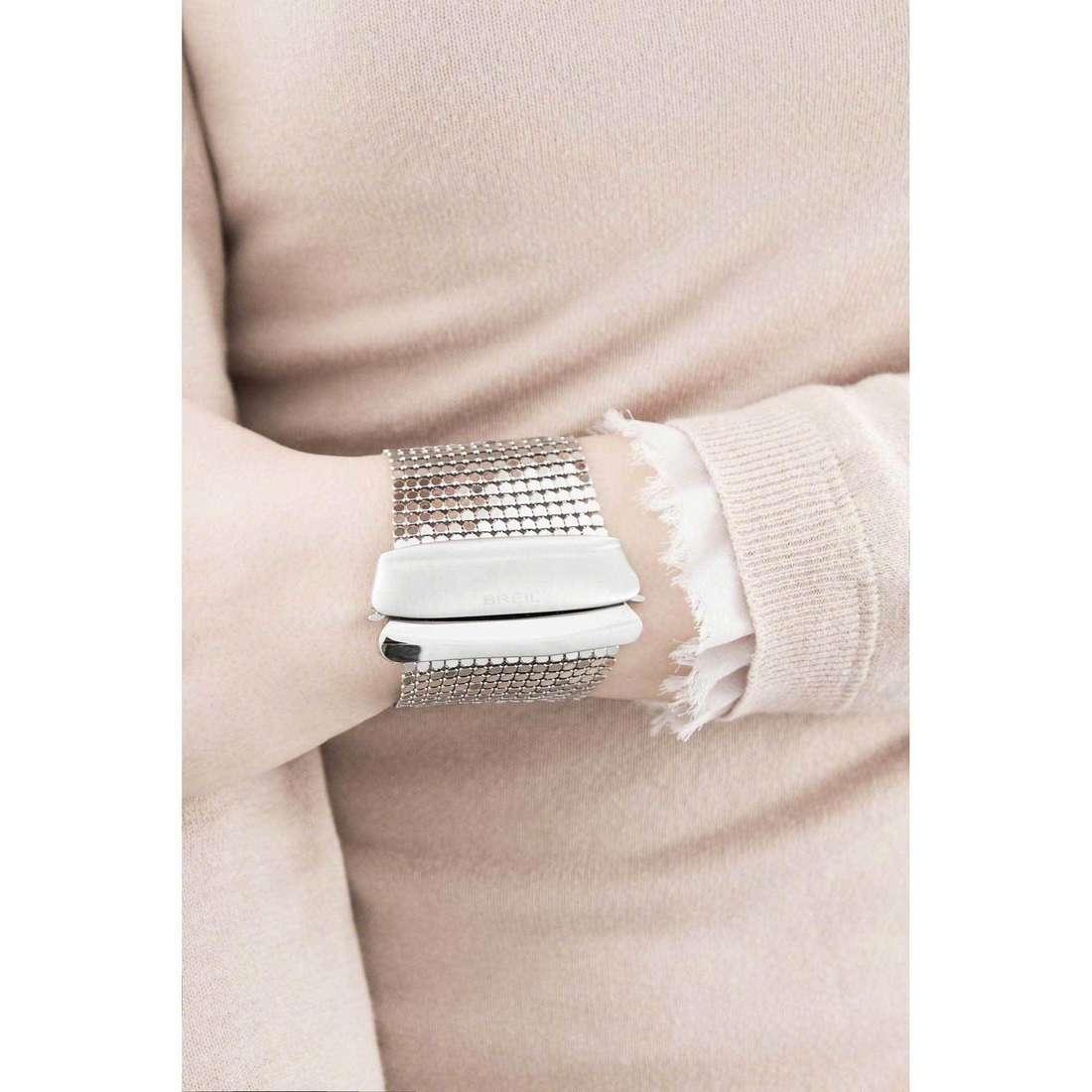 Breil bracciali Steel Silk donna TJ1265 indosso