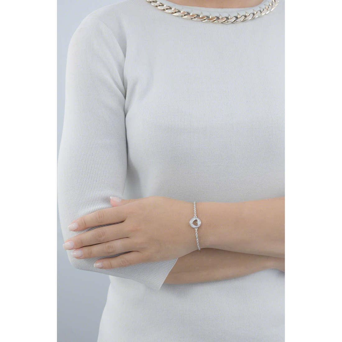 Guess bracciali G Girl donna UBB51495 indosso