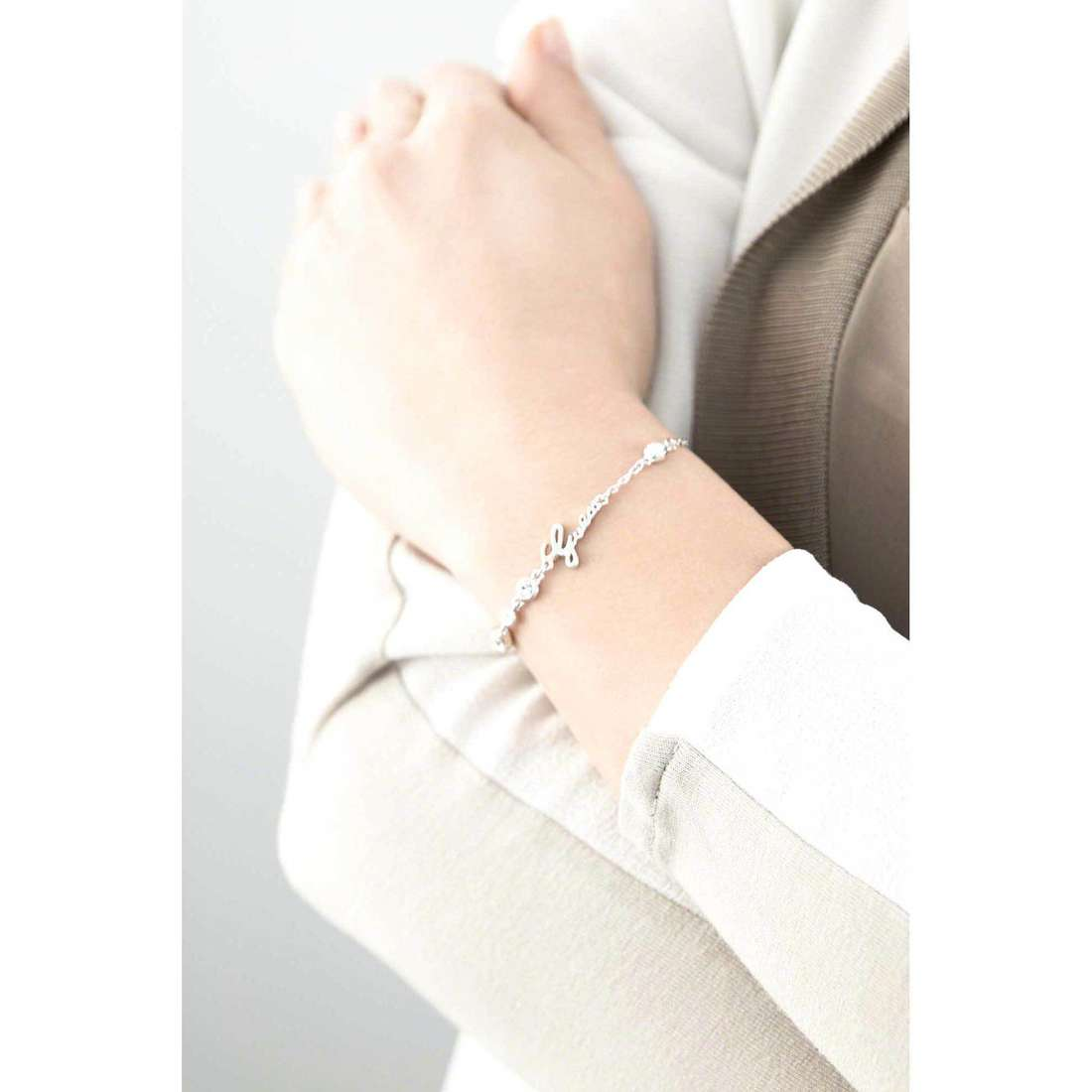 Guess bracciali Shiny Guess donna UBB61022-S indosso