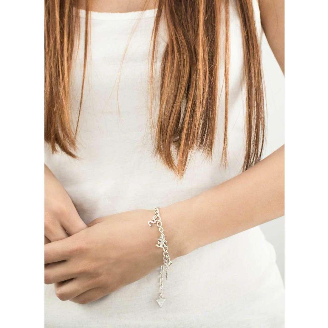 Guess bracciali donna UBB61080-S indosso