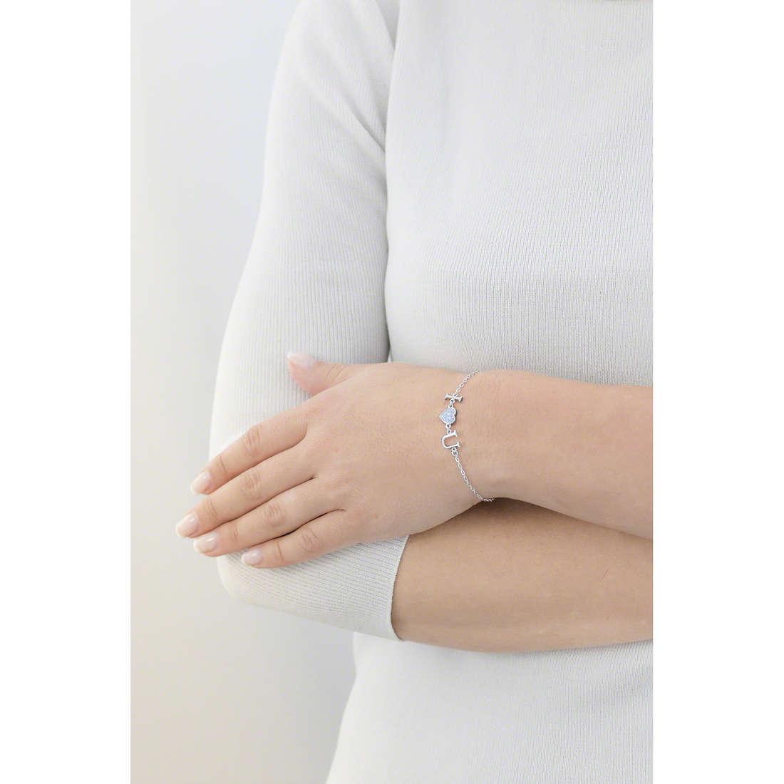Guess bracciali donna UBB61095-S indosso