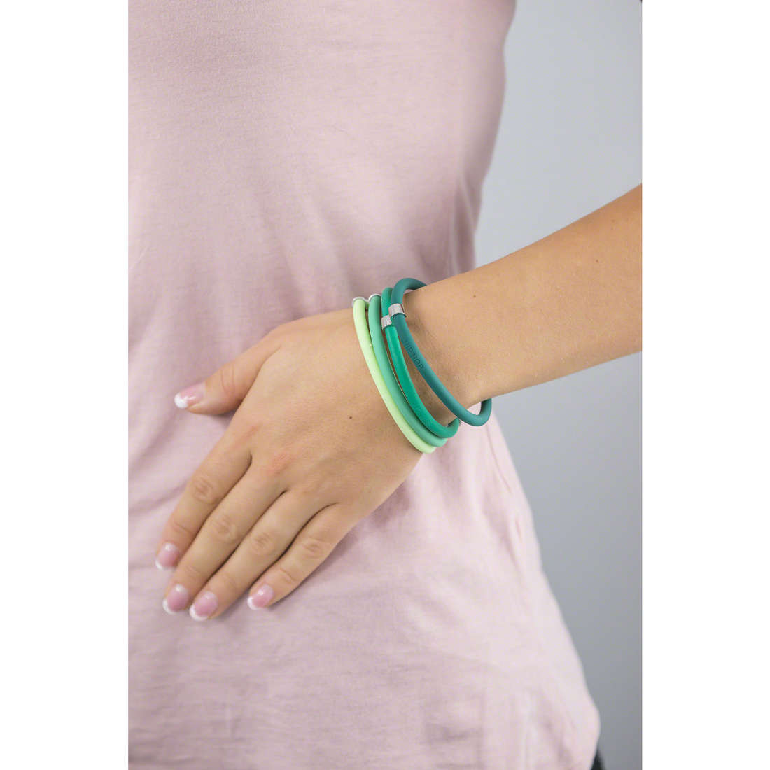 Hip Hop bracciali Happy Loops donna HJ0105 indosso