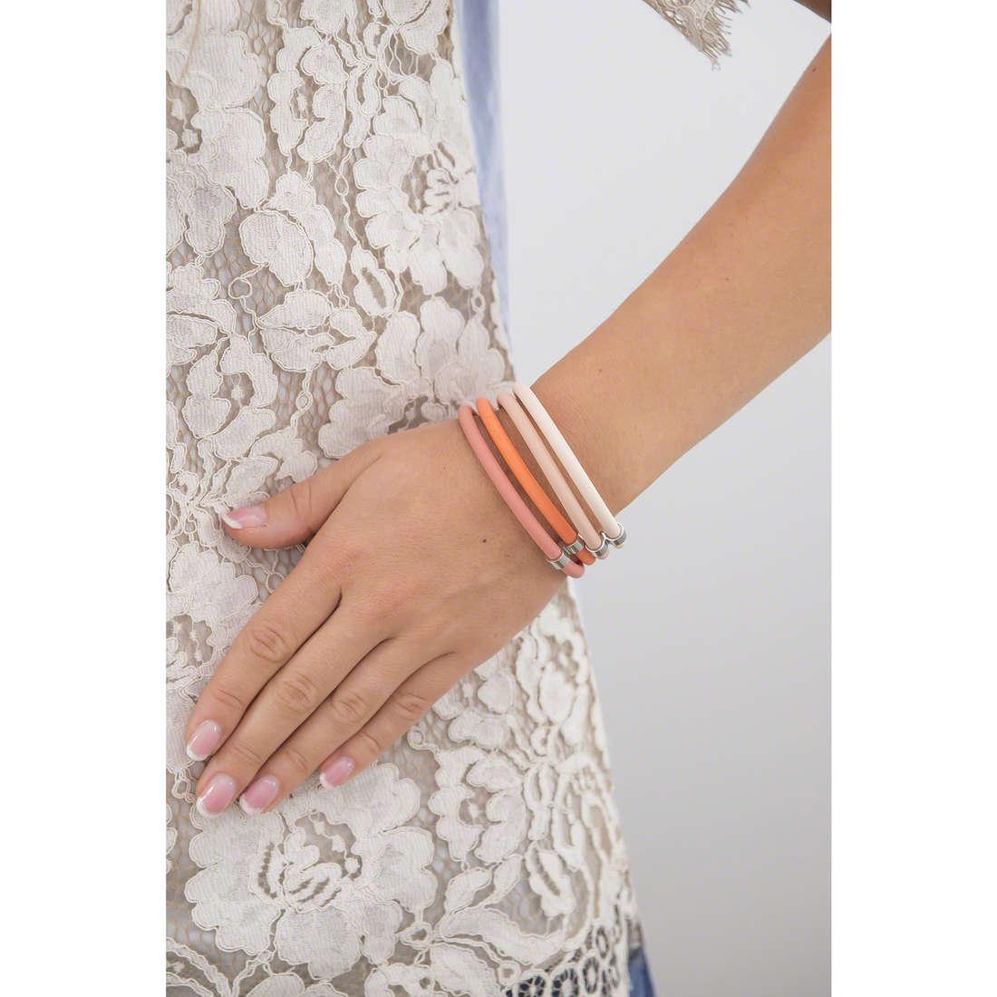 Hip Hop bracciali Happy Loops donna HJ0291 indosso