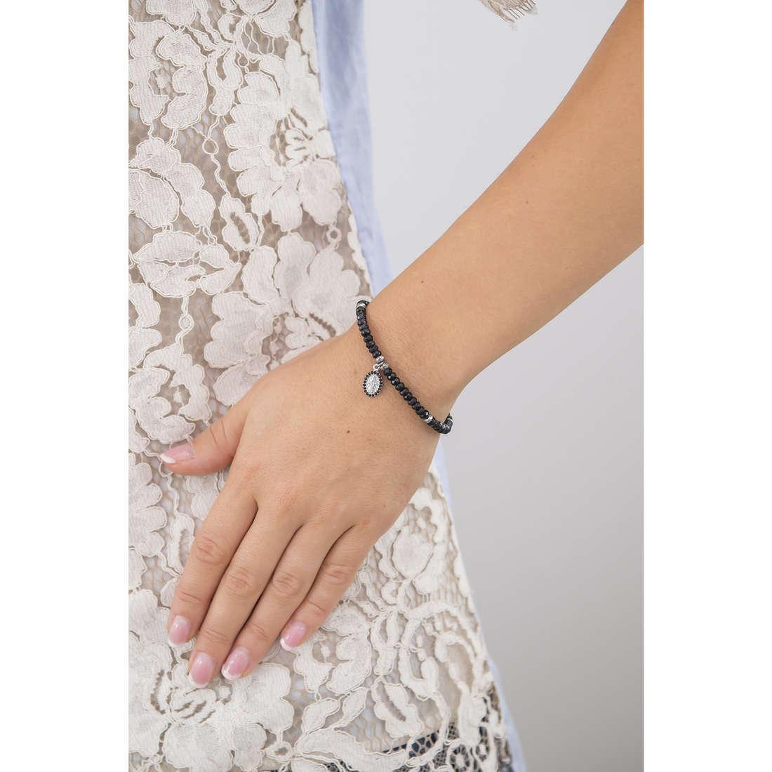 Marlù bracciali Sacral Dark donna 13BR038N indosso