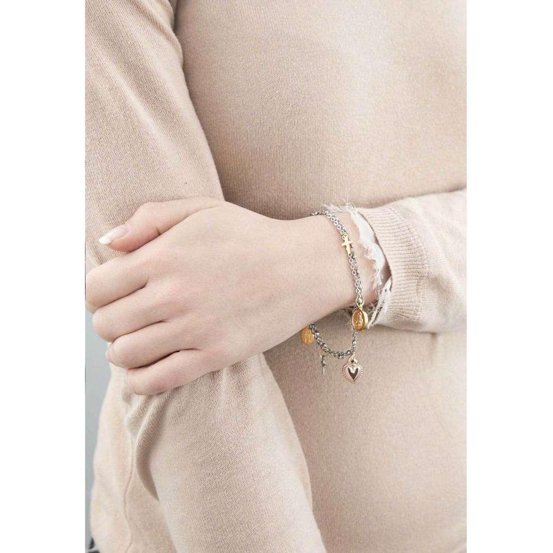 Marlù bracciali Sacro Cuore donna 13BR018 indosso