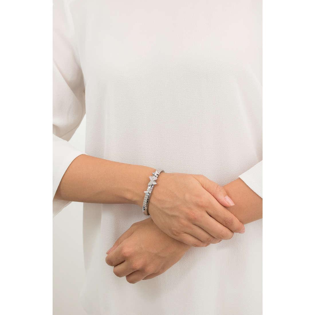 Nomination bracciali Butterfly donna 021300/005 indosso