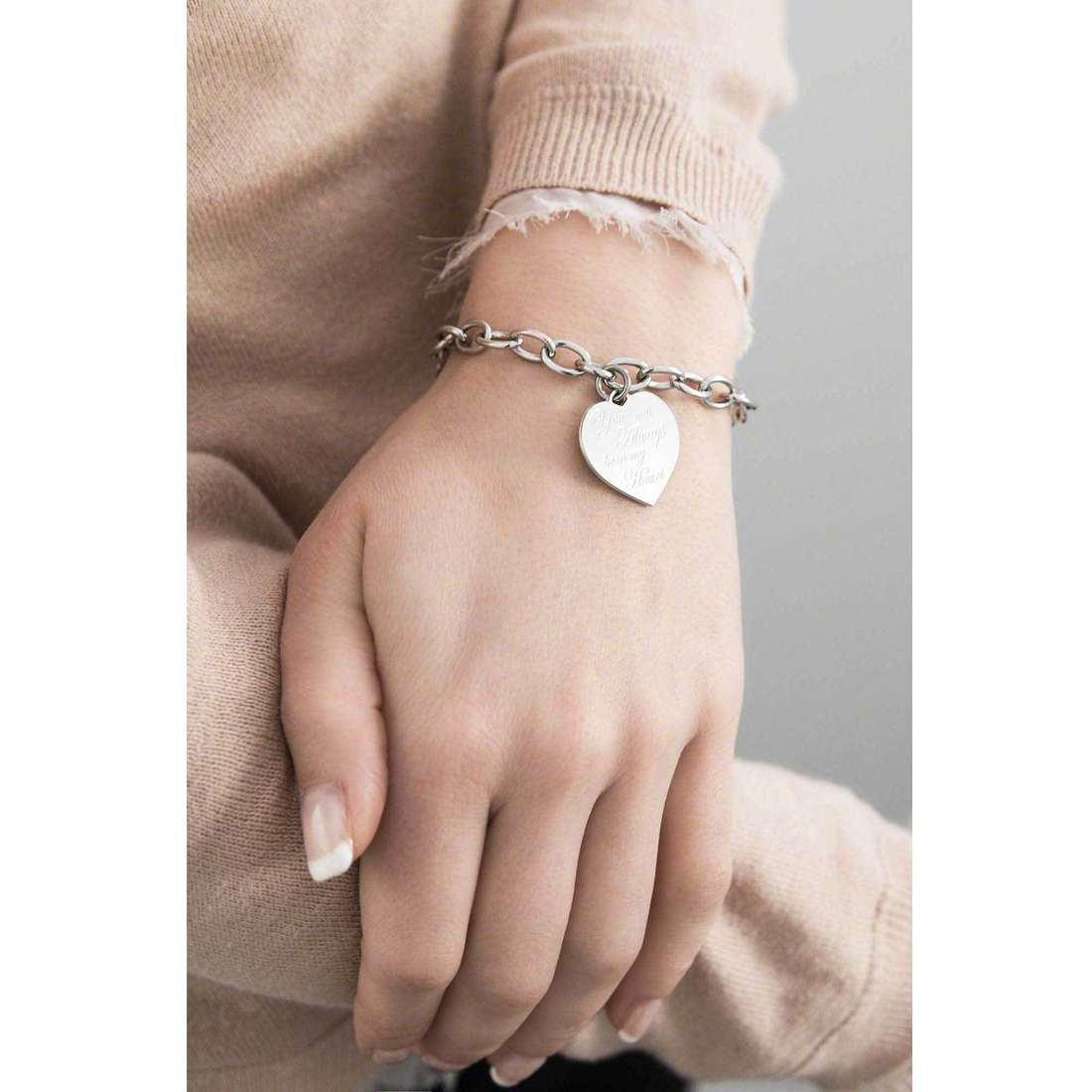 Nomination bracciali Sweetheart donna 026112/014 indosso