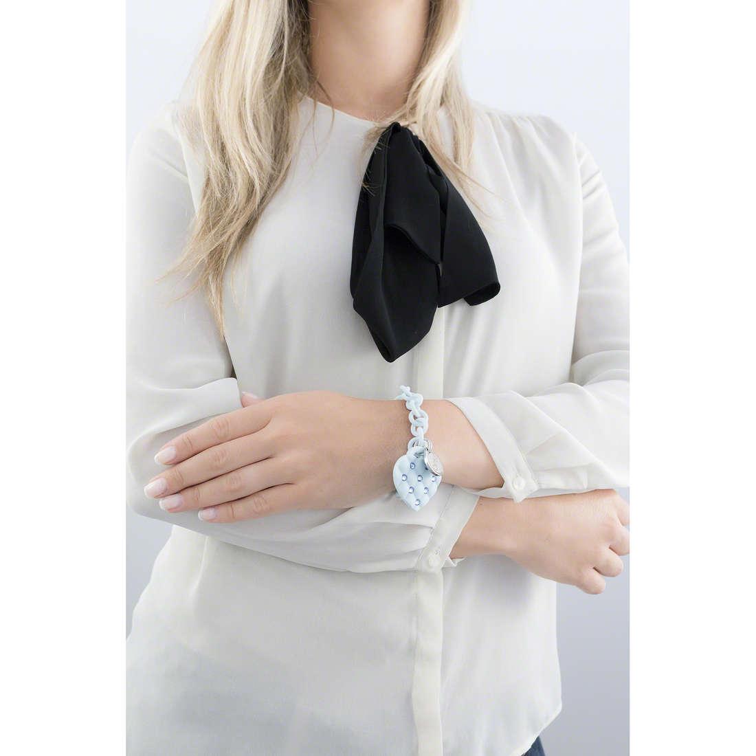 Ops Objects bracciali Matelassè Crystal donna OPSBR-234 indosso