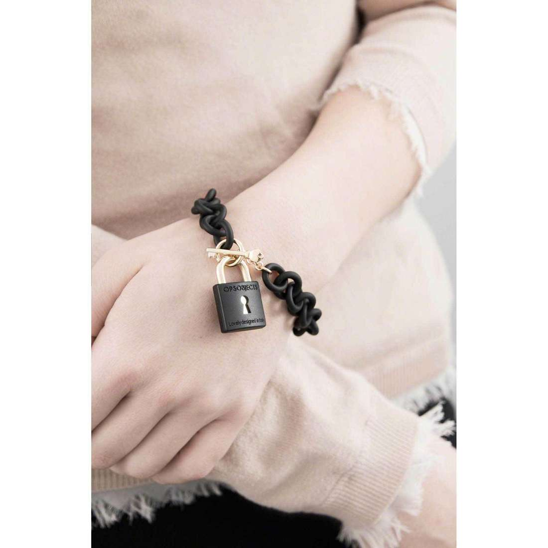 Ops Objects bracciali ops!Lock donna OPSBR-281 indosso