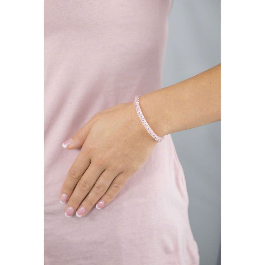 Ops Objects bracciali Tennis Nude donna OPSTEW-61 indosso