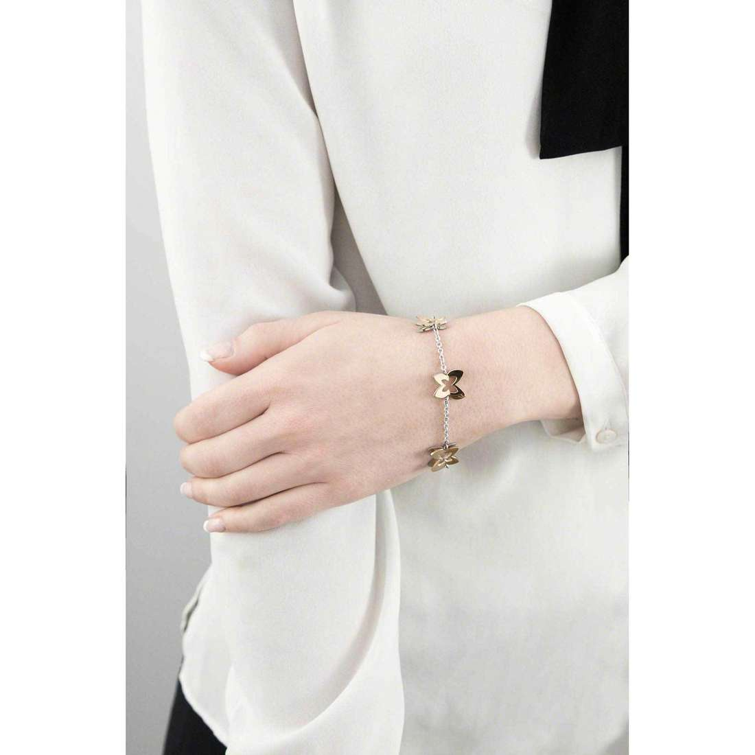Sagapò bracciali Butterfly donna SBF11 indosso