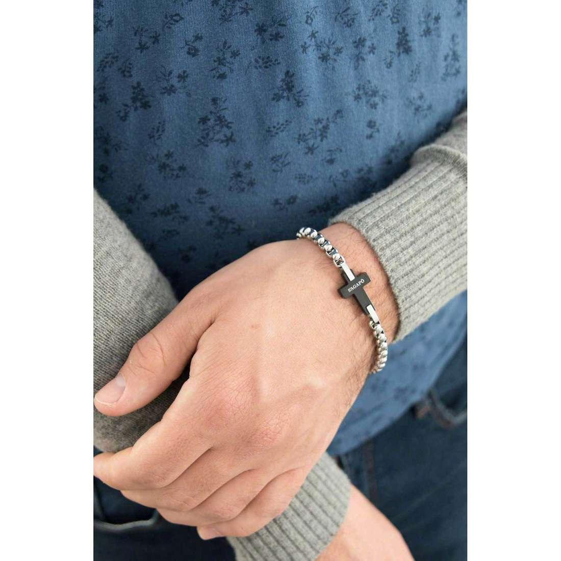 Sagapò bracciali Croix donna SCX11 indosso