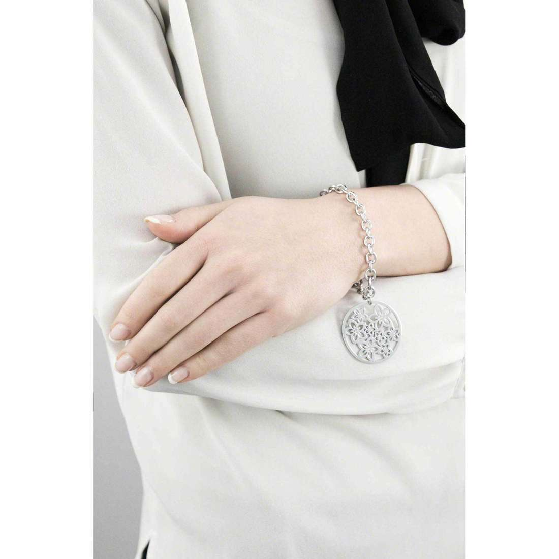Sagapò bracciali Flower donna SFL11 indosso