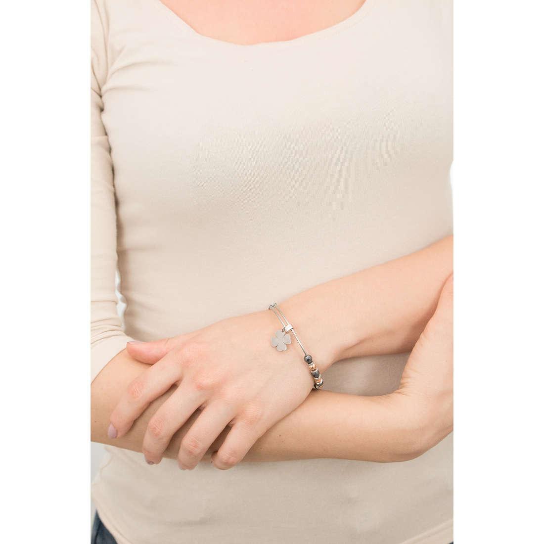 Sagapò bracciali HAPPY donna SHAD12 indosso