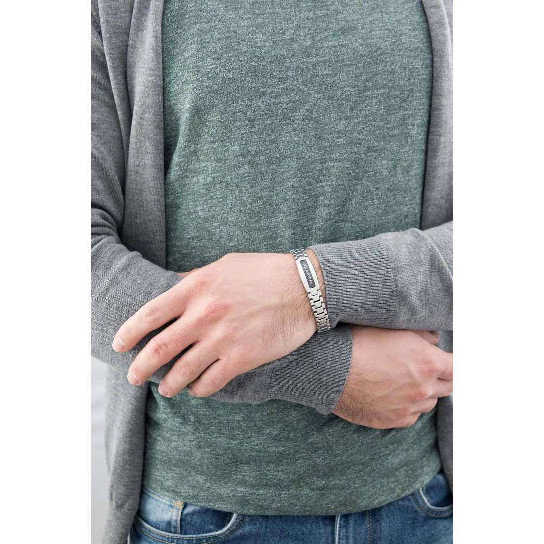 Breil bracciali Abarth uomo TJ1888 indosso