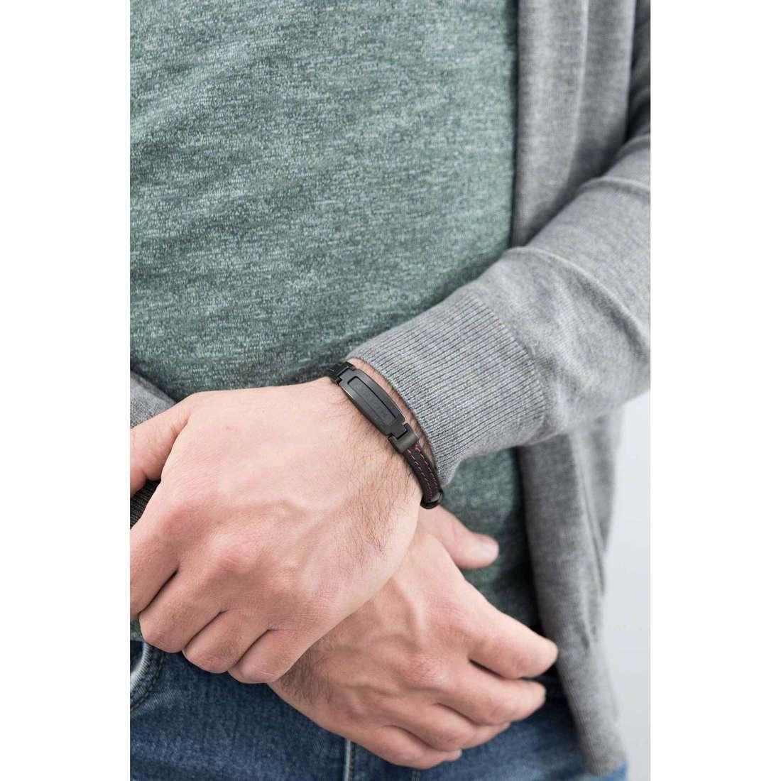 Breil bracciali Abarth uomo TJ1890 indosso