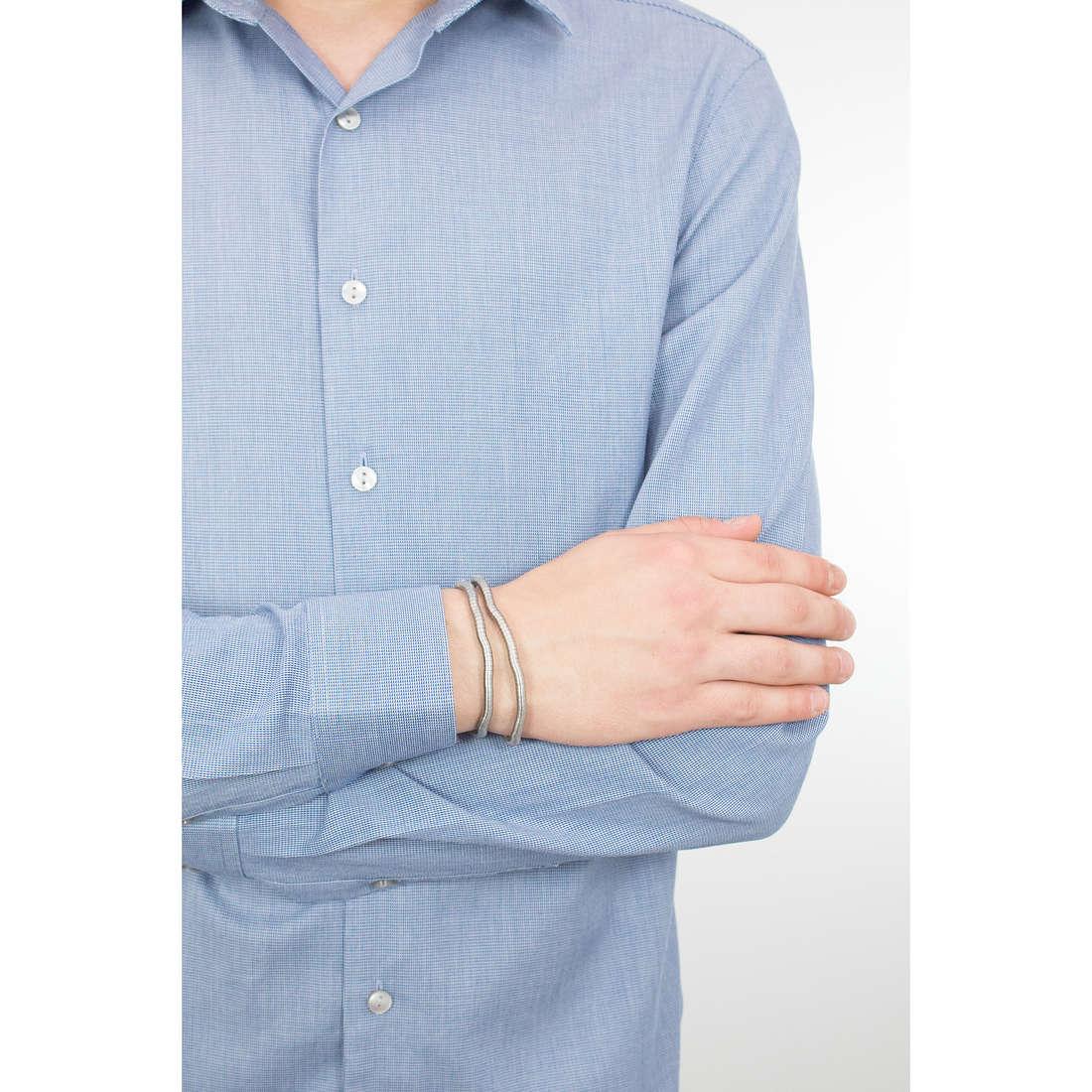 Breil bracciali Snake uomo TJ1281 indosso