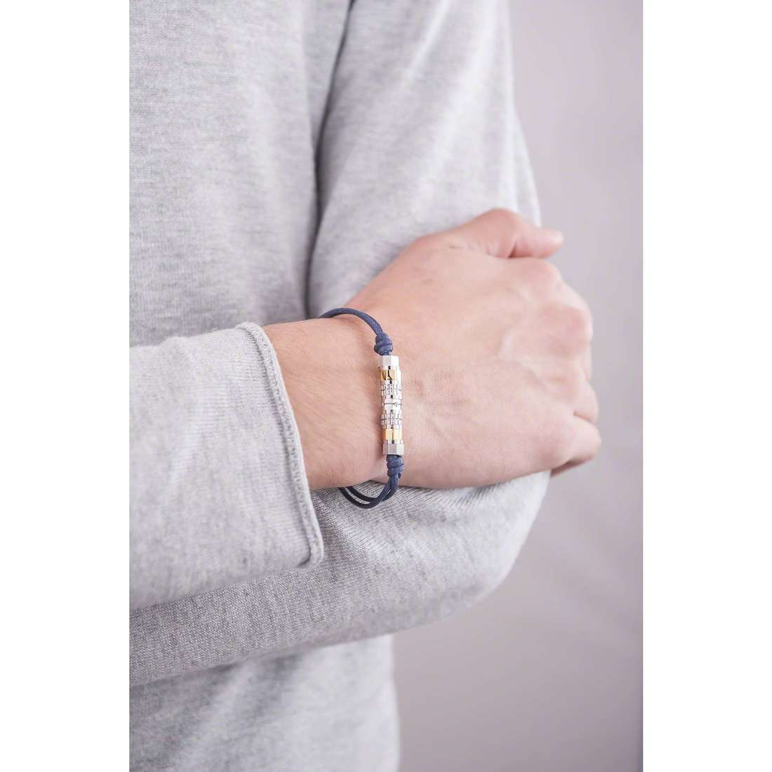 Brosway bracciali Octagons uomo BOC03 indosso