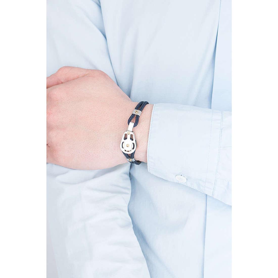 Comete bracciali Blu di Genova uomo UBR 727 indosso