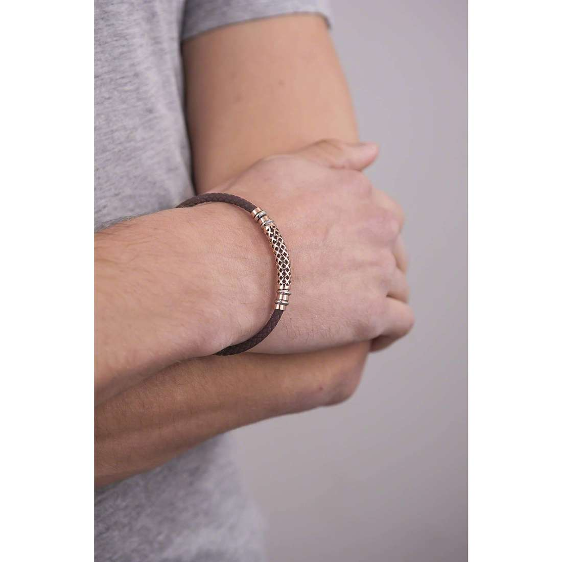 Comete bracciali Net uomo UBR 624 indosso