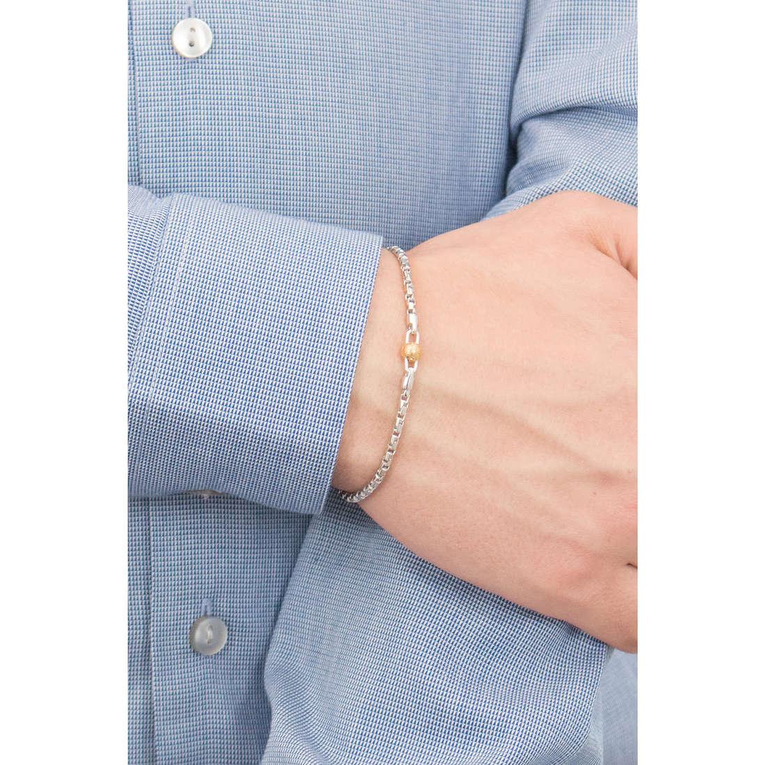 Comete bracciali Passioni uomo UBR 803 indosso