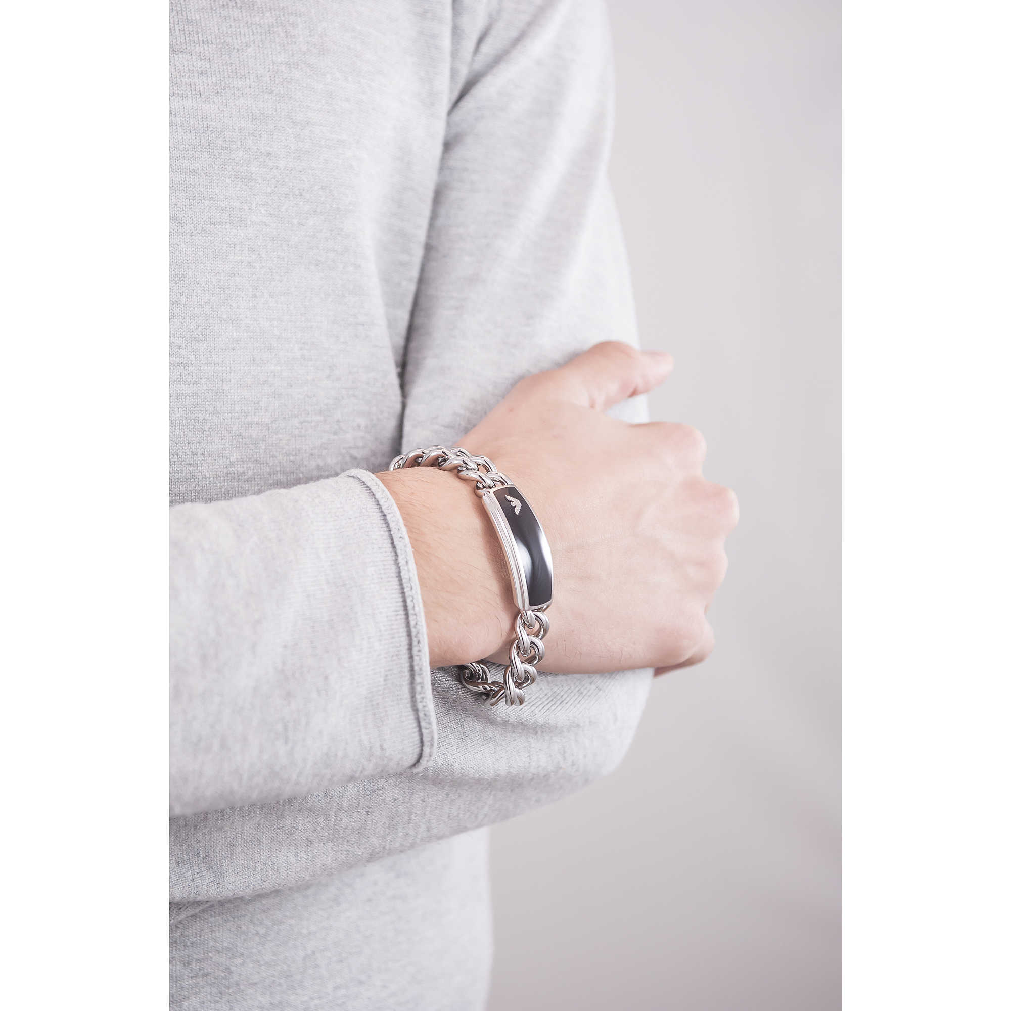 nuovo concetto 5e1f9 1b4d2 bracciale uomo gioielli Emporio Armani EGS172904019