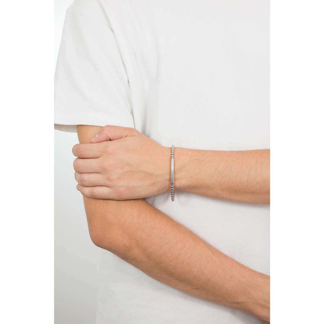 Luca Barra bracciali Elegance uomo LBBA791 indosso