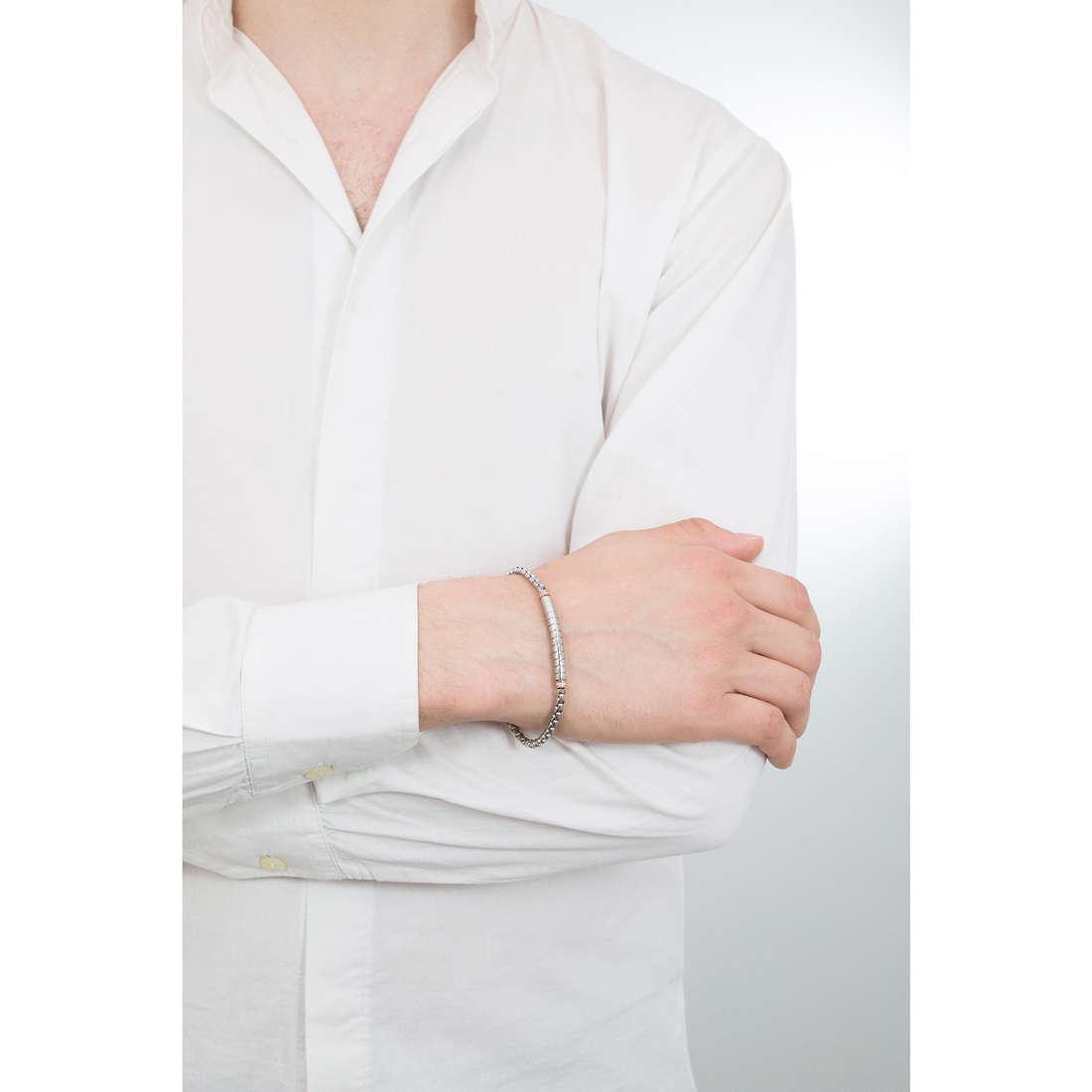 Luca Barra bracciali Elegance uomo LBBA792 indosso