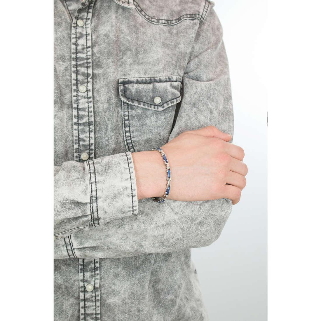 Luca Barra bracciali uomo LBBA447 indosso