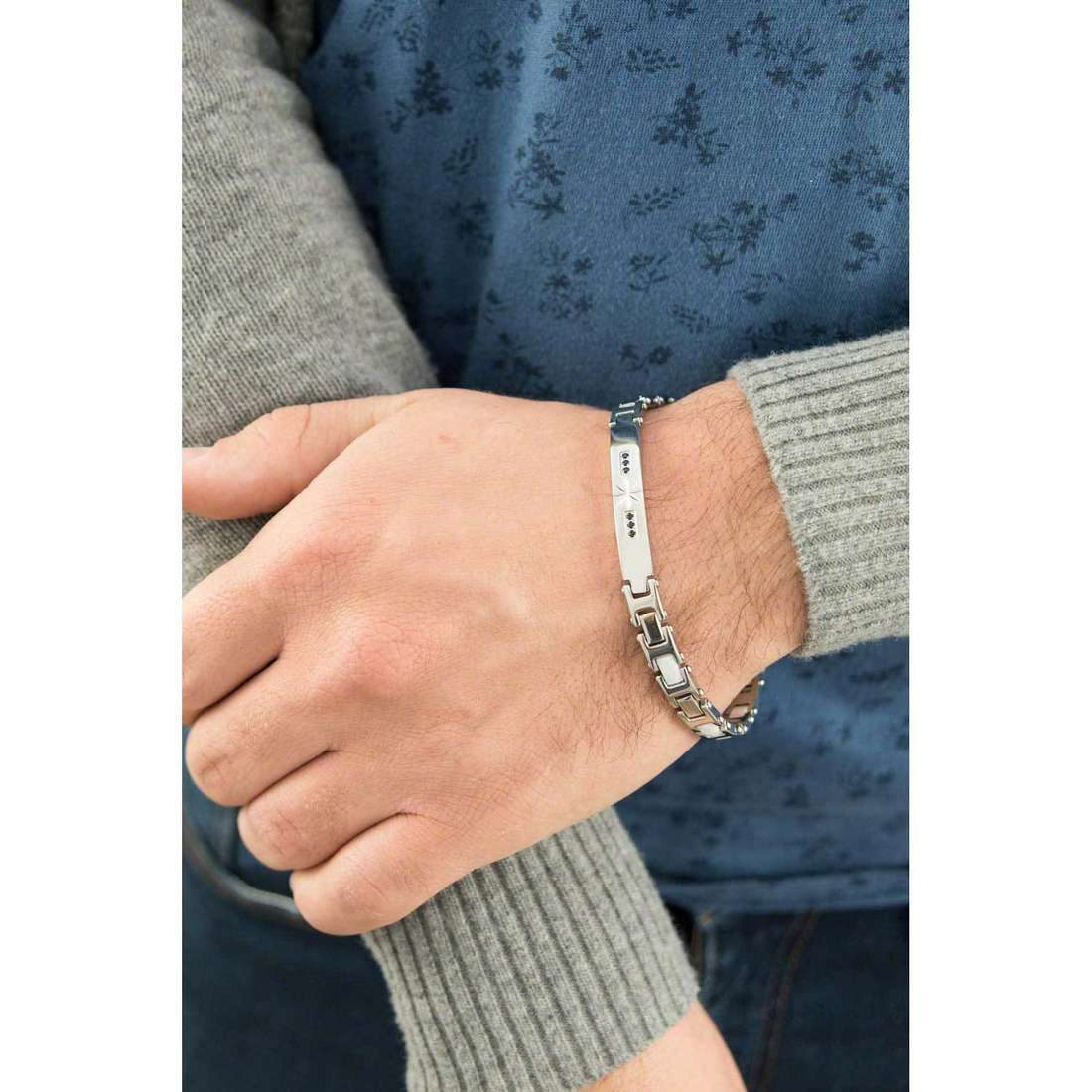 Luca Barra bracciali uomo LBBA460 indosso