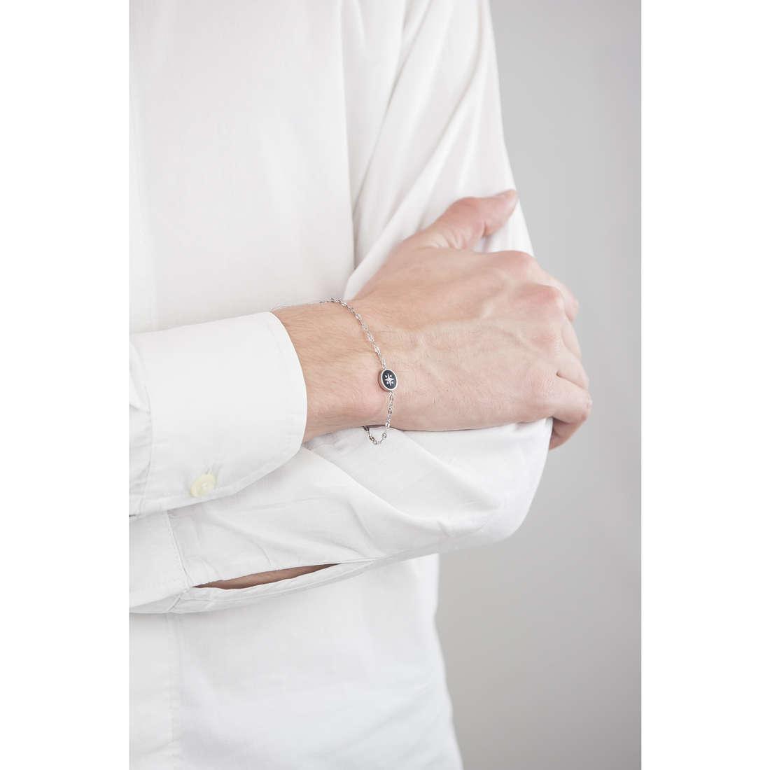 Luca Barra bracciali uomo LBBA498 indosso
