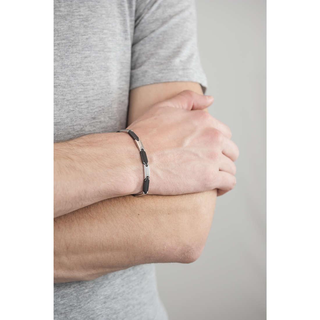 Luca Barra bracciali uomo LBBA505 indosso
