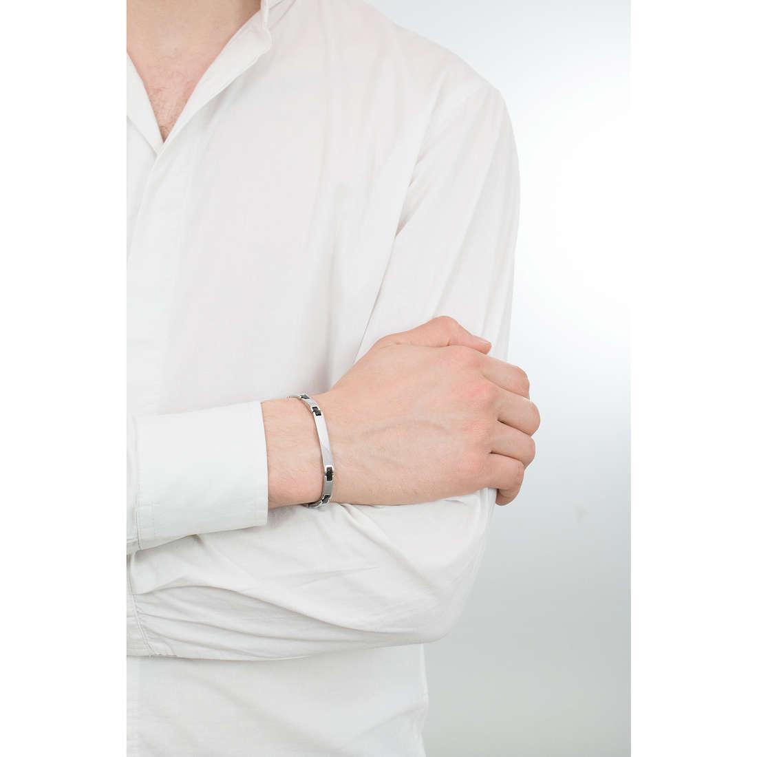 Luca Barra bracciali uomo LBBA532 indosso