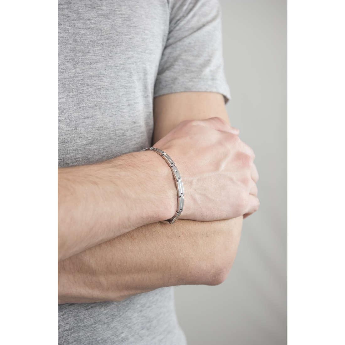 Luca Barra bracciali uomo LBBA533 indosso