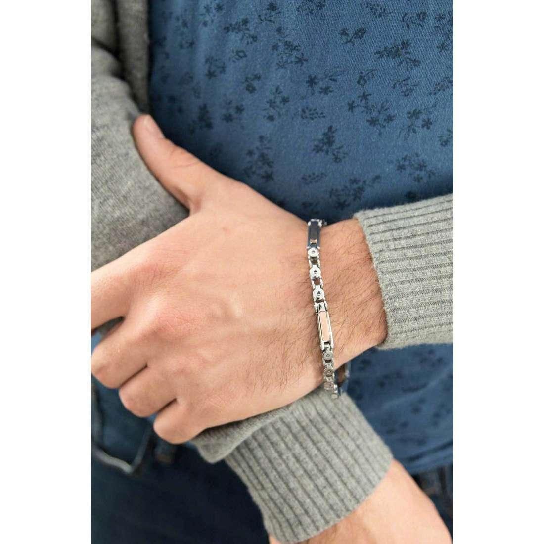 Luca Barra bracciali uomo LBBA537 indosso