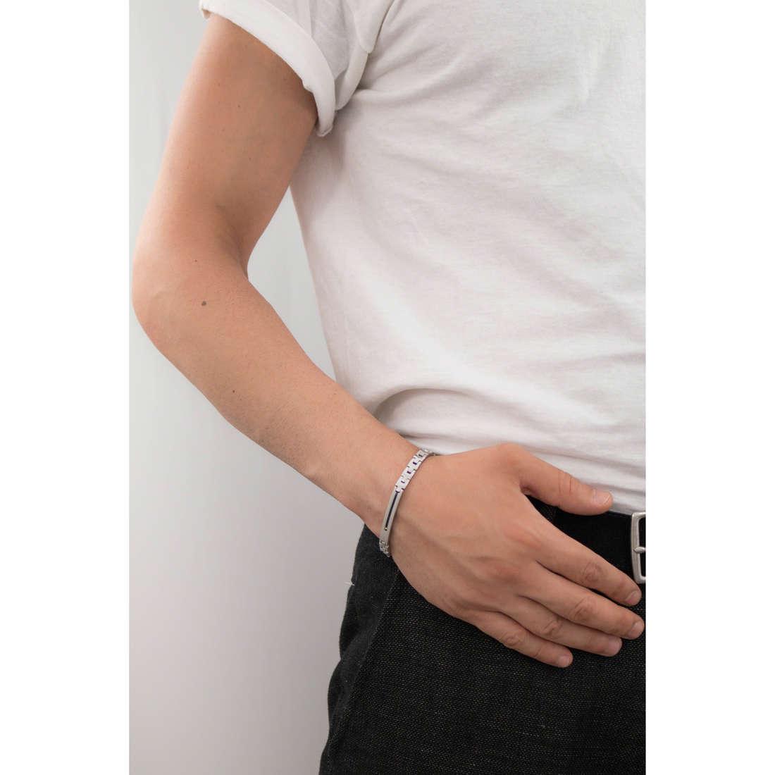 Luca Barra bracciali uomo LBBA613 indosso